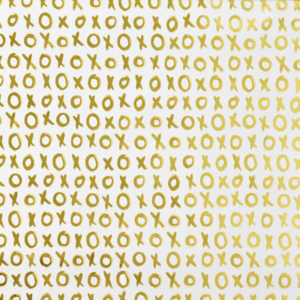 White Amp Gold Xoxo Foil Wrapping Paper The Container Store
