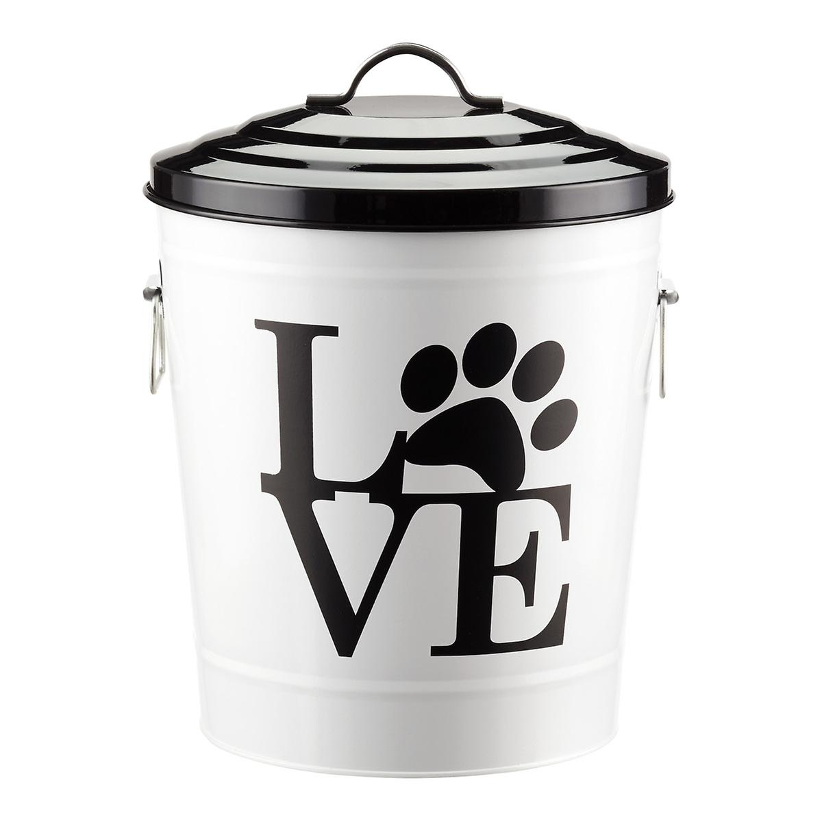 20 Lb Love Pet Food Tin The Container Store
