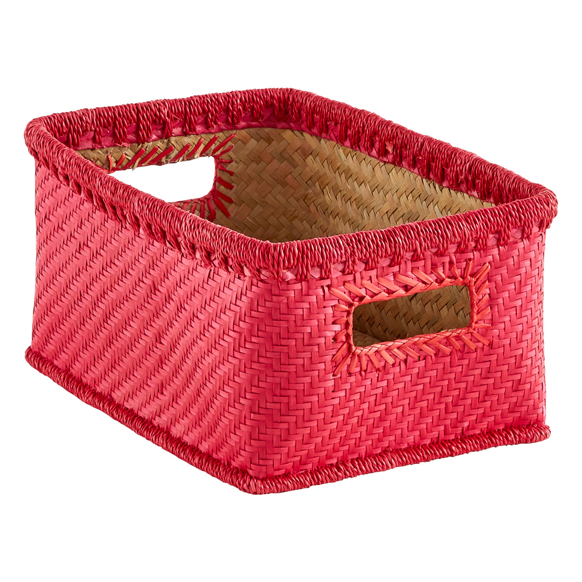 Superieur Small Palm Leaf Woven Storage Bins With Handles
