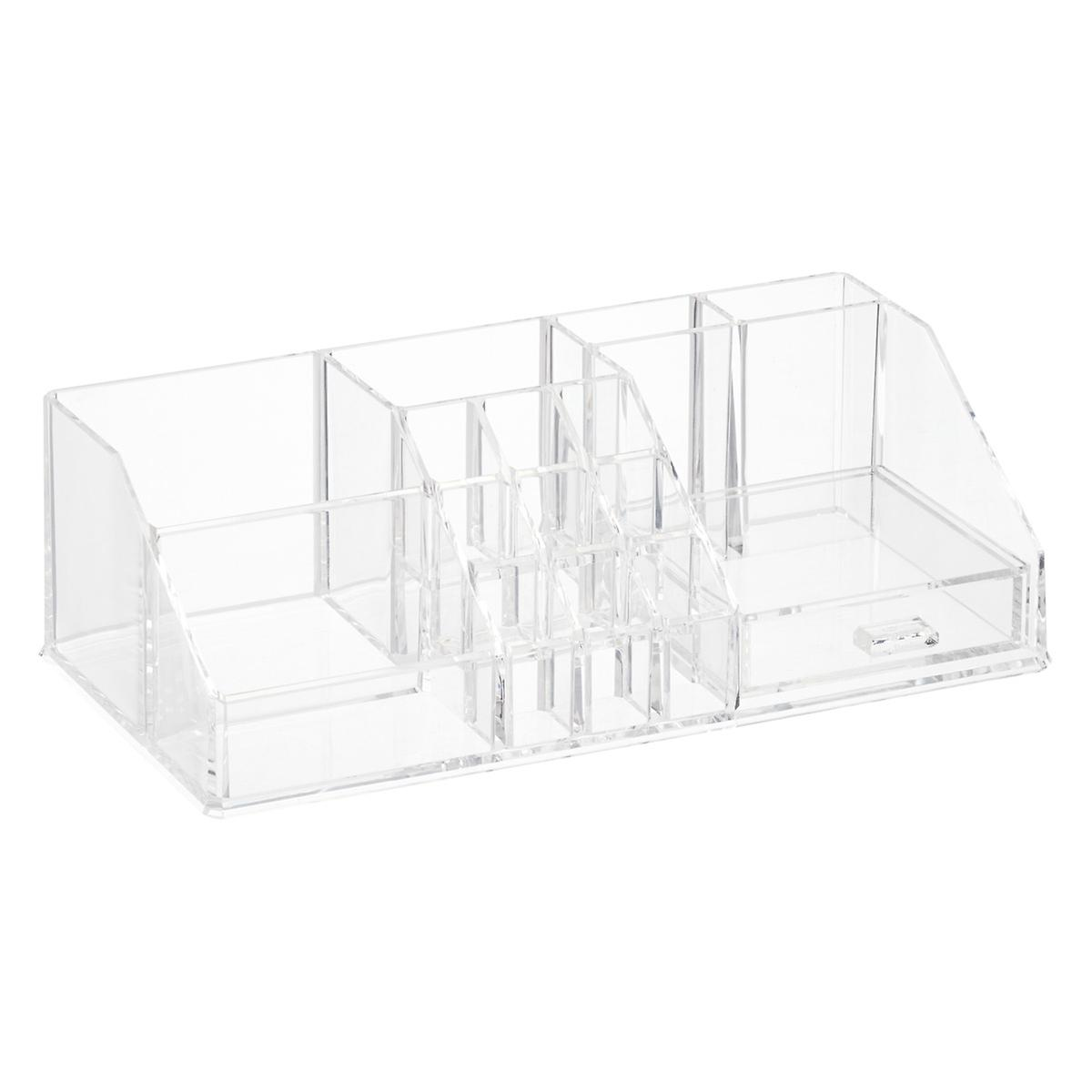 White Makeup Organizer Acrylic Makeup Organizer With Drawer The Container Store