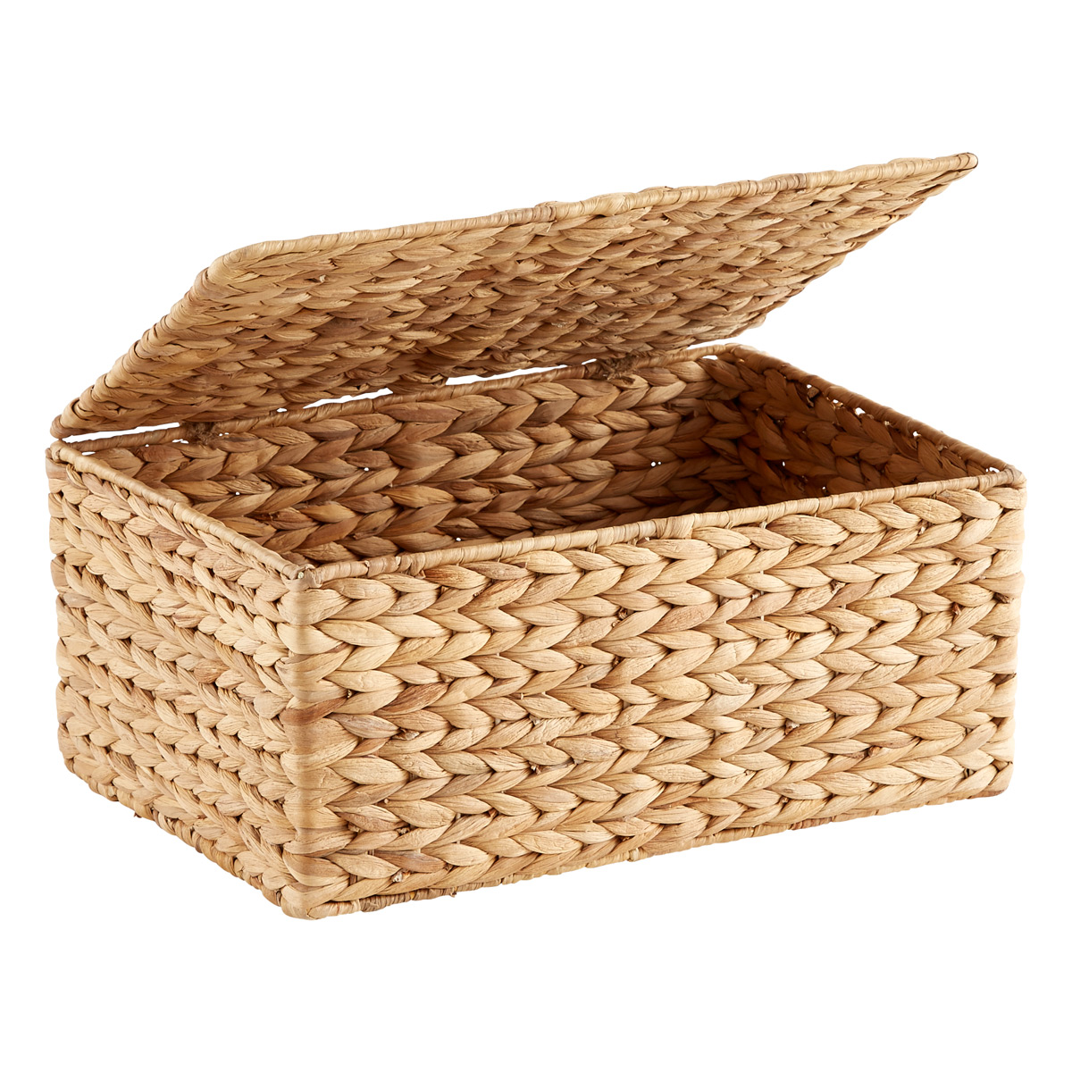 Small Water Hyacinth Storage Box With Hinged Lid · U0026. Roll Over To Zoom