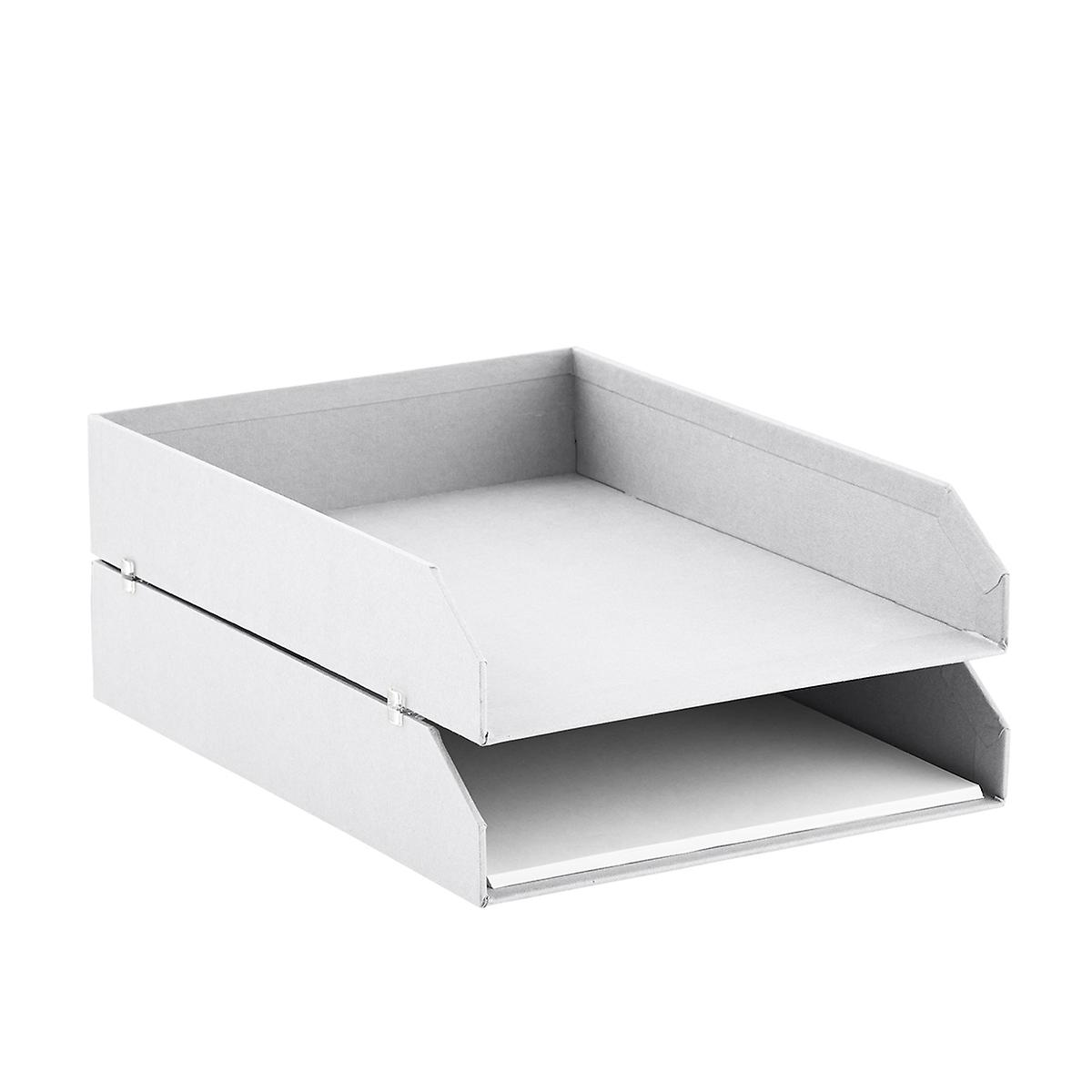 Bigso White Stockholm Stackable Letter Trays Set of 2 | The