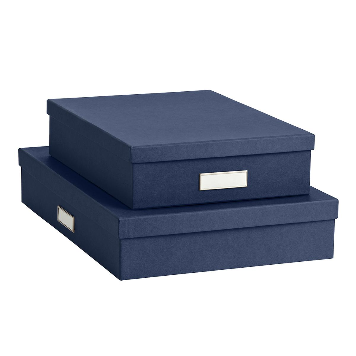 Bigso Navy Stockholm Office Storage Boxes The Container Store