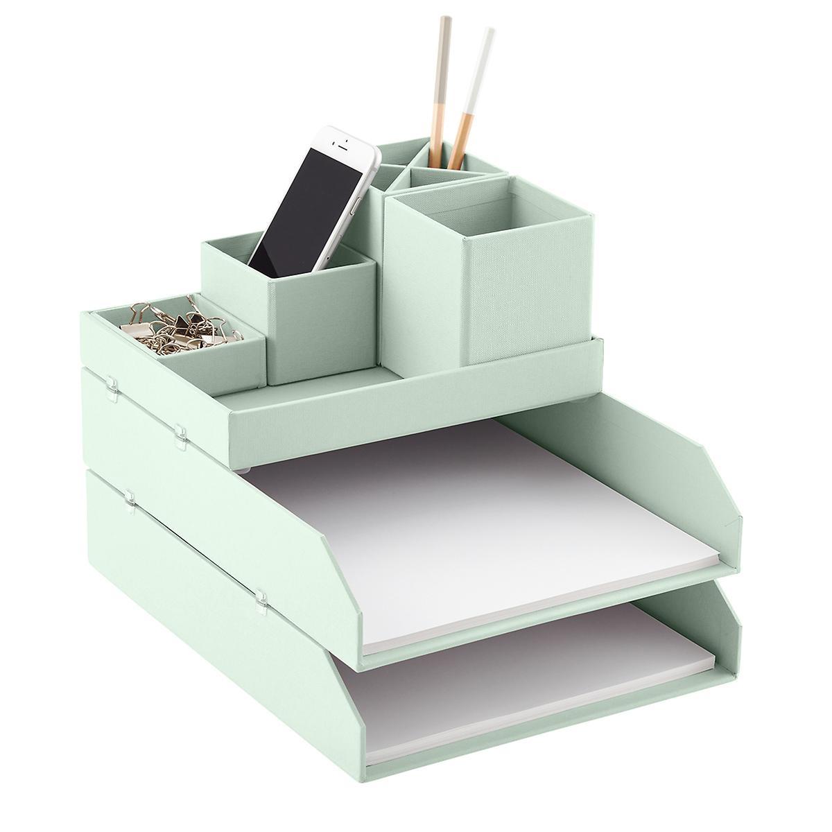 Famous Bigso Mint Stockholm Desktop Organizer | The Container Store CS86