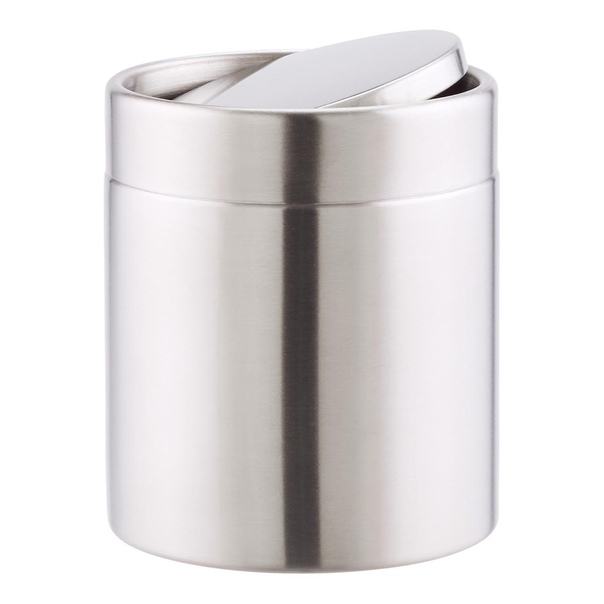 Stainless Steel Swinglid Countertop Trash Can