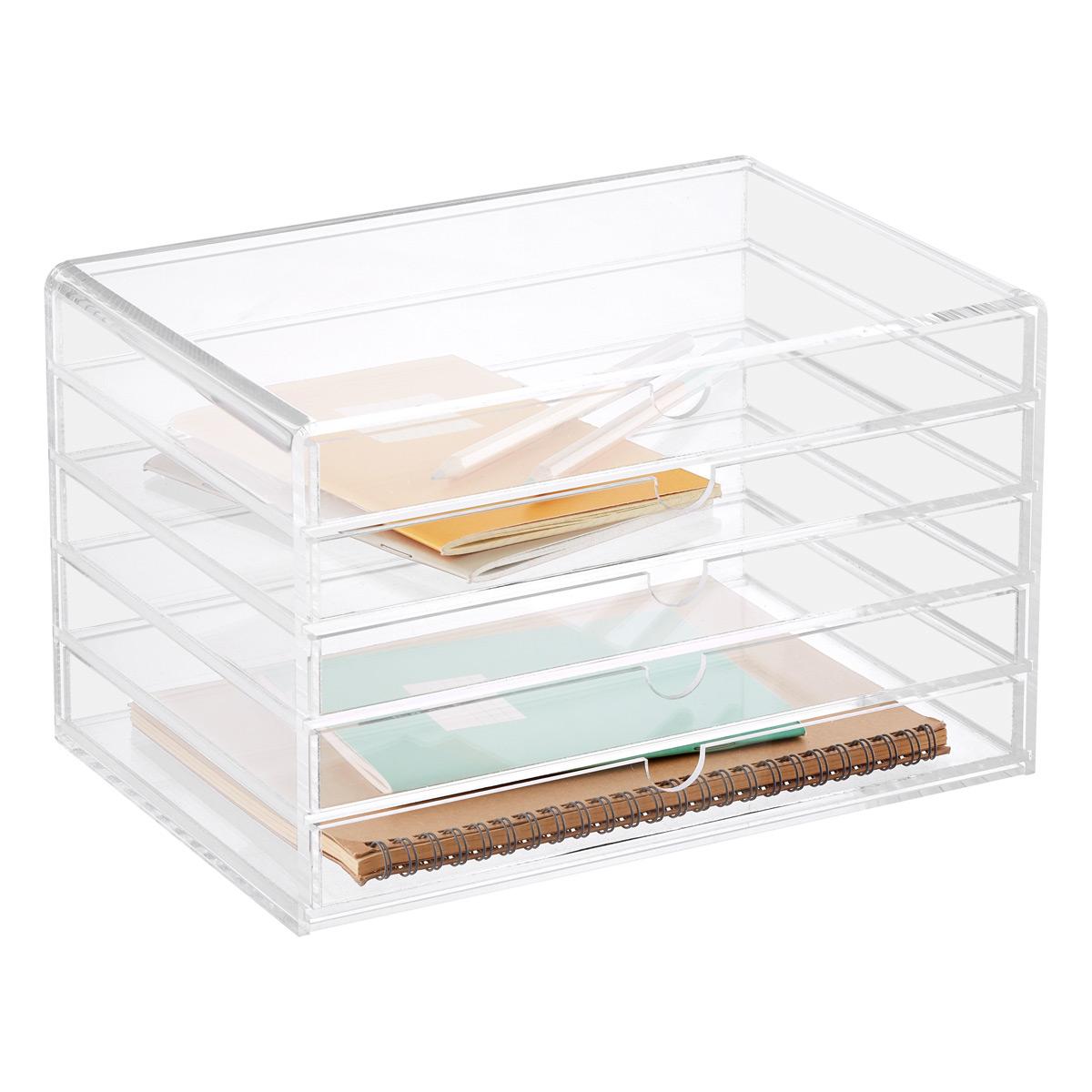 Charming 5 Drawer Premium Acrylic Accessory Box ...