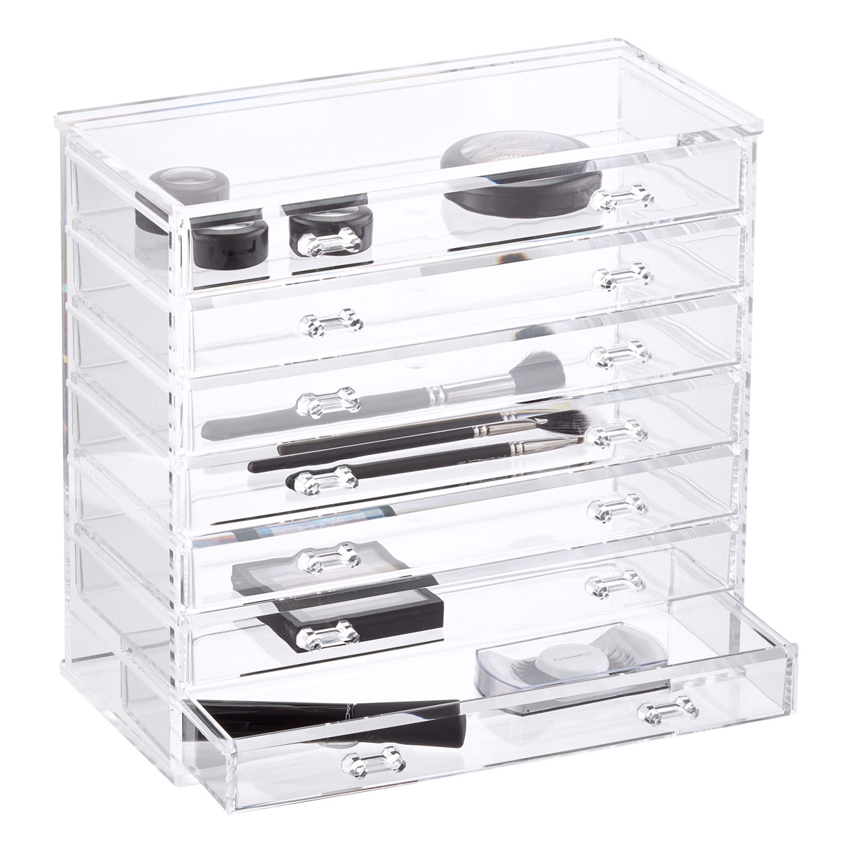 7,Drawer Premium Clear Acrylic Chest