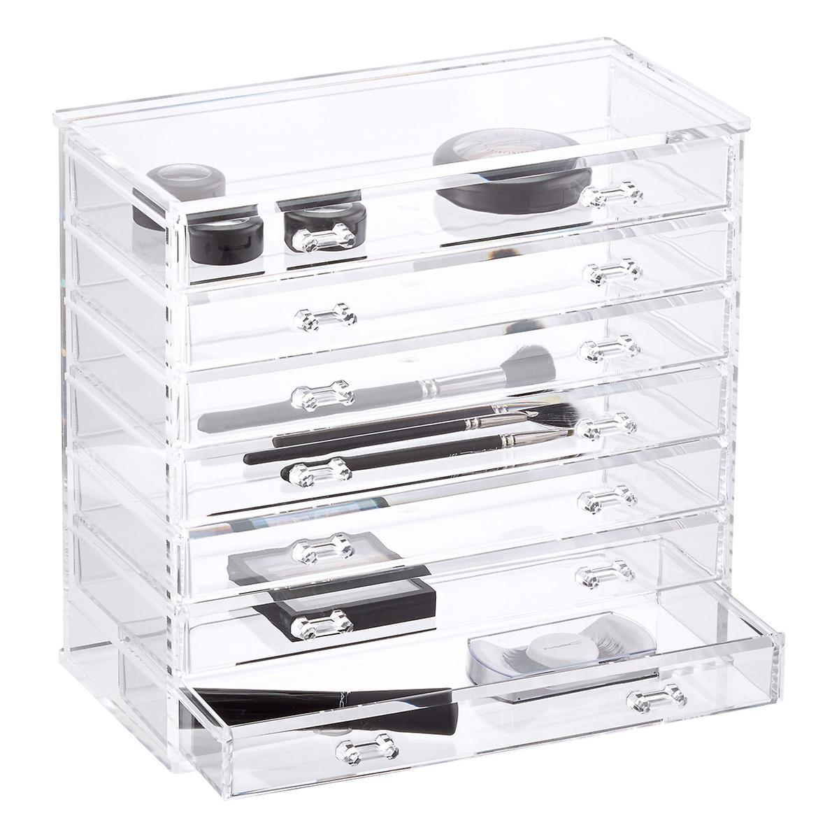 7 Drawer Premium Clear Acrylic Chest