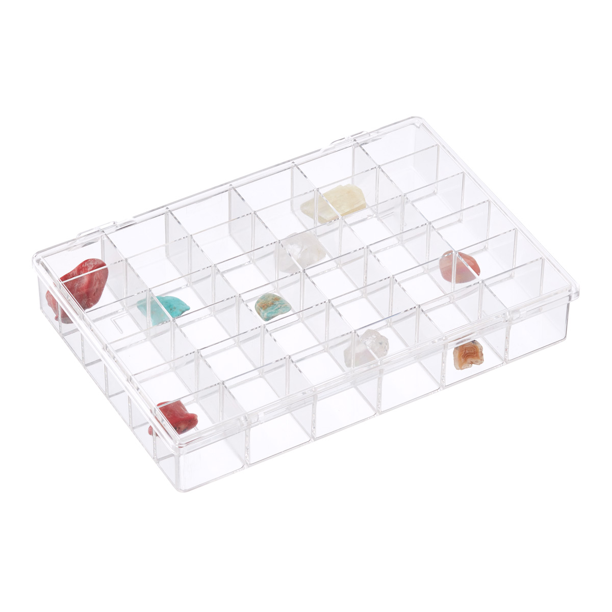 8 compartment box ideal for craft and also board game components