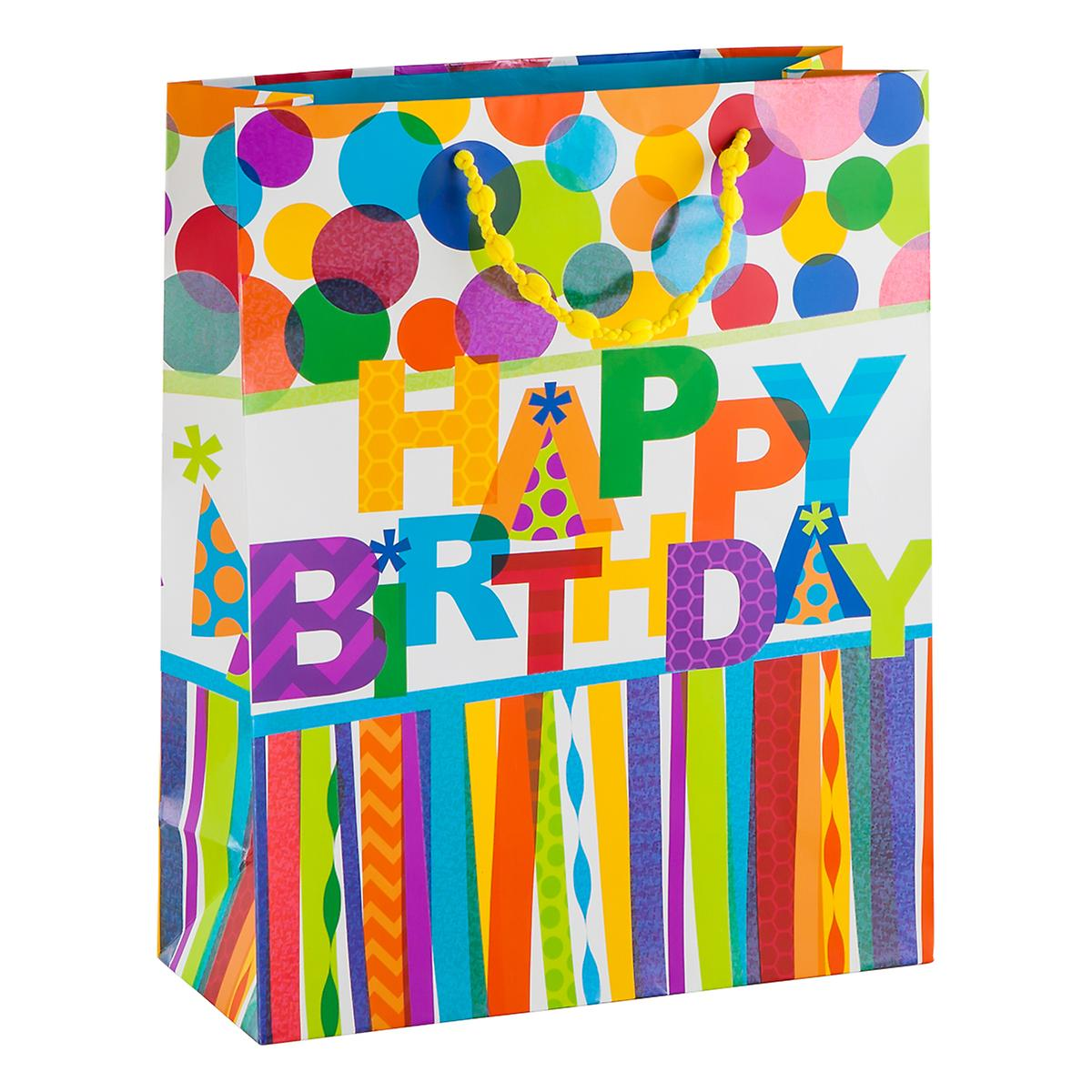 Large Happy Birthday Hooray Gift Tote
