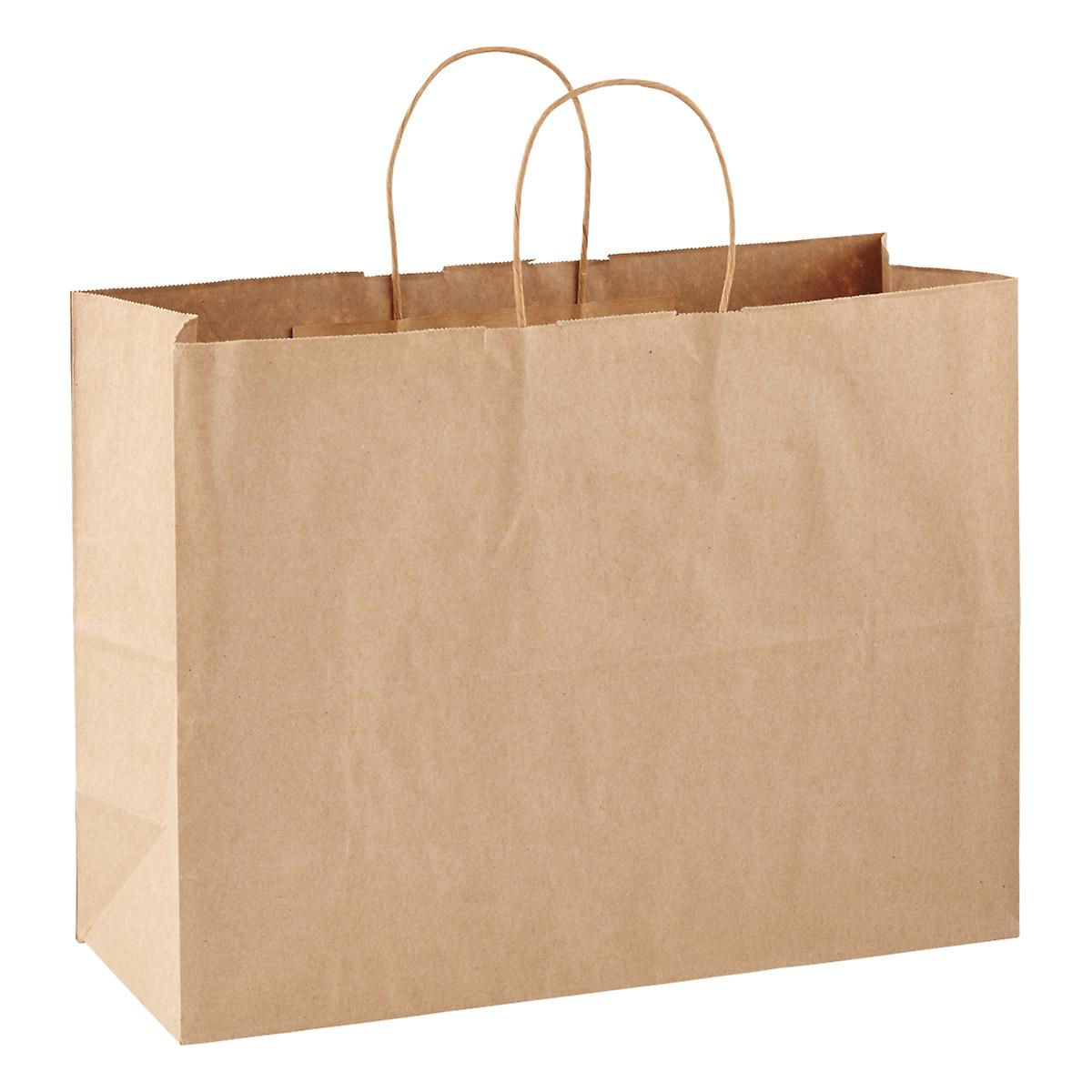 Large Brown Kraft Gift Bag