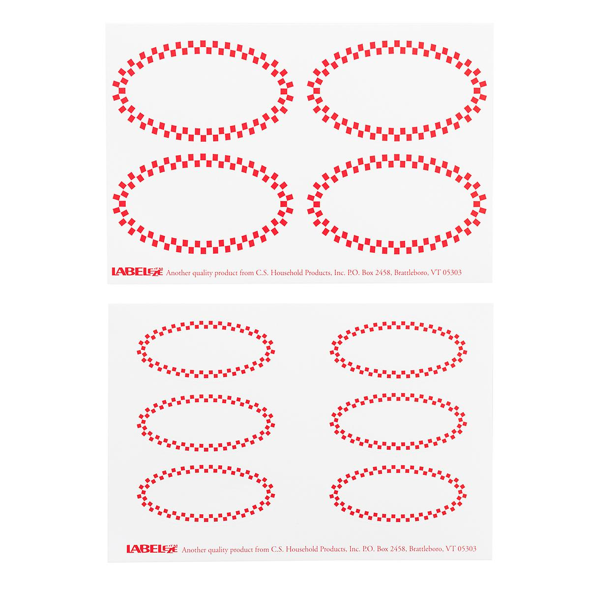red check oval decorative labels the container store