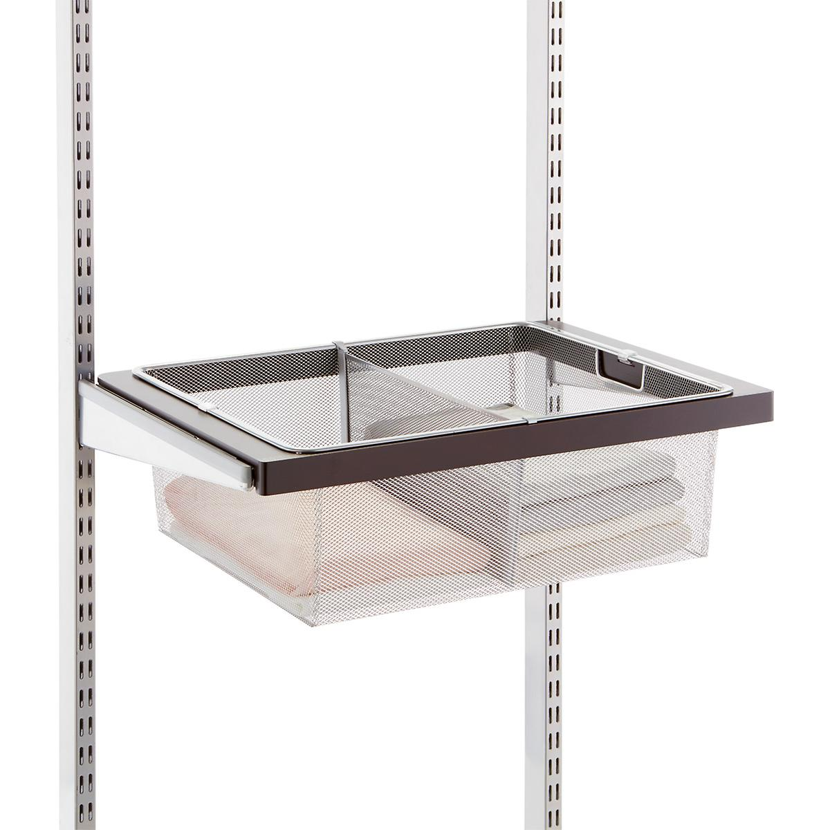 platinum elfa mesh drawer dividers the container store