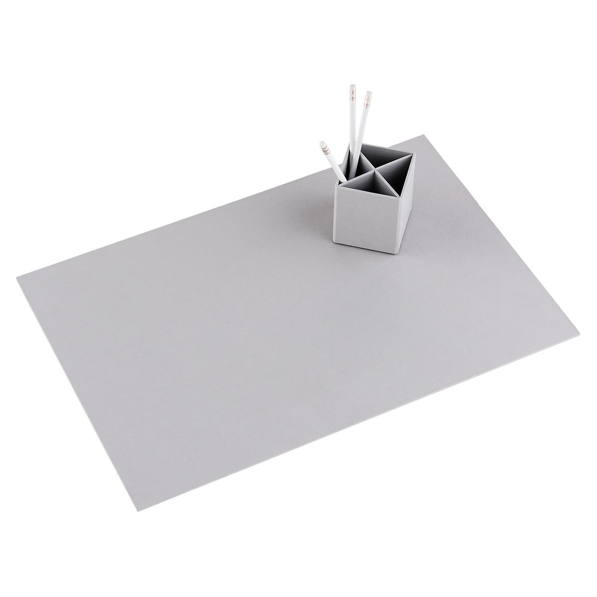 Bigso Light Grey Stockholm Desk Blotter The Container Store - Table pad store