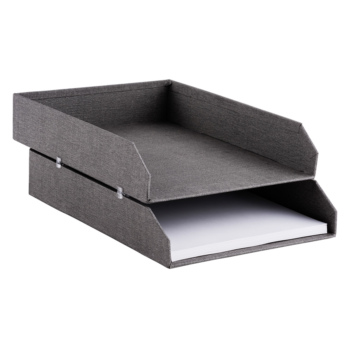 Bigso Marten Grey Set Of Stackable Letter Trays The Container Store Jpg  1200x1200 Stackable Office Trays