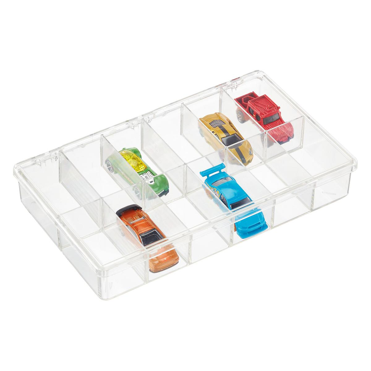 12 Compartment Clear Box The Container Store