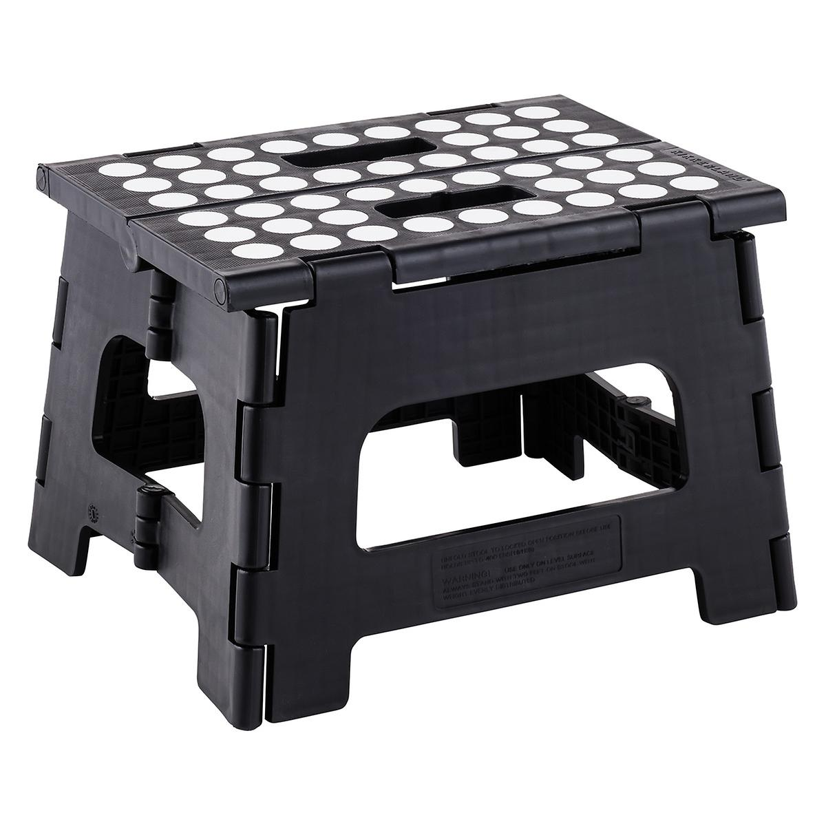 Astounding Black Easy Folding Step Stool Beatyapartments Chair Design Images Beatyapartmentscom
