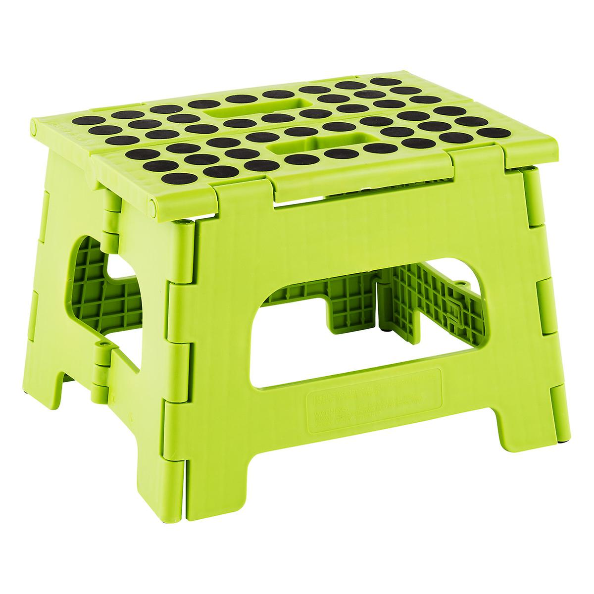 Lime Easy Folding Step Stool The Container Store
