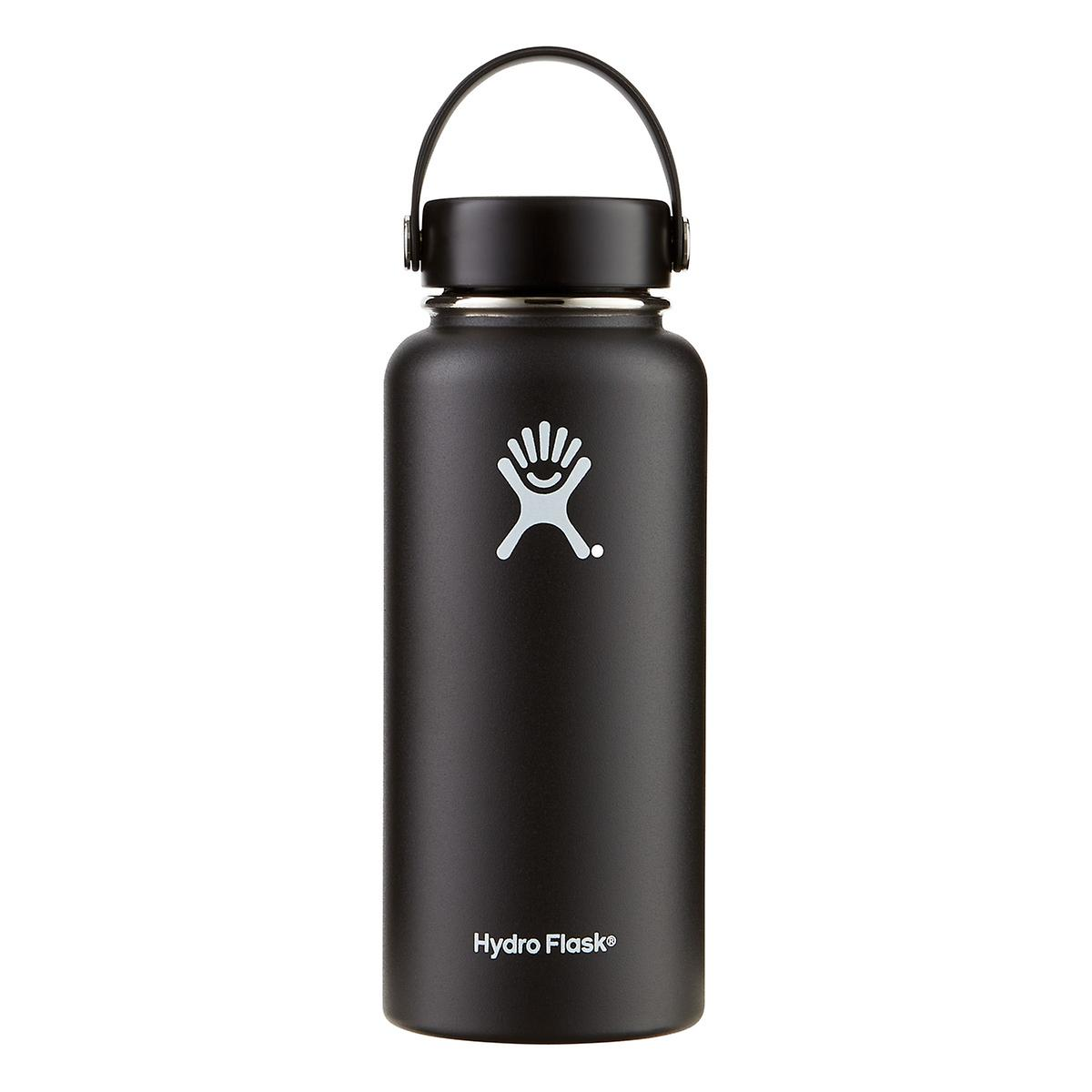 bd62a8627d Black 32 oz. Wide Mouth Hydro Flask | The Container Store