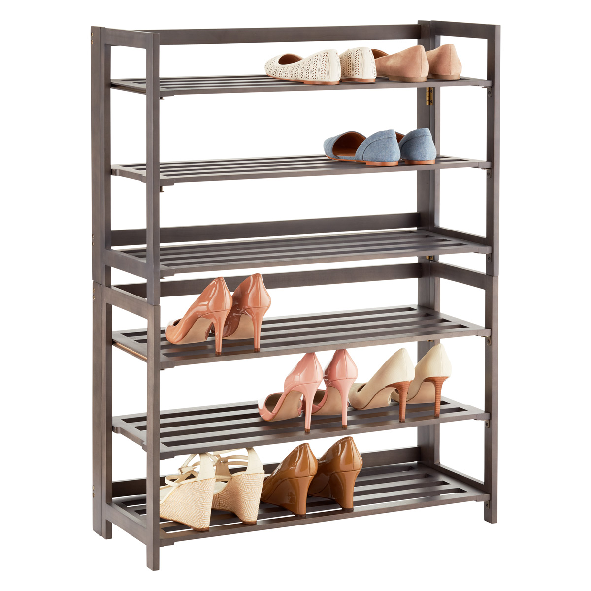 Perfect 3 Tier Driftwood Folding Shoe Rack
