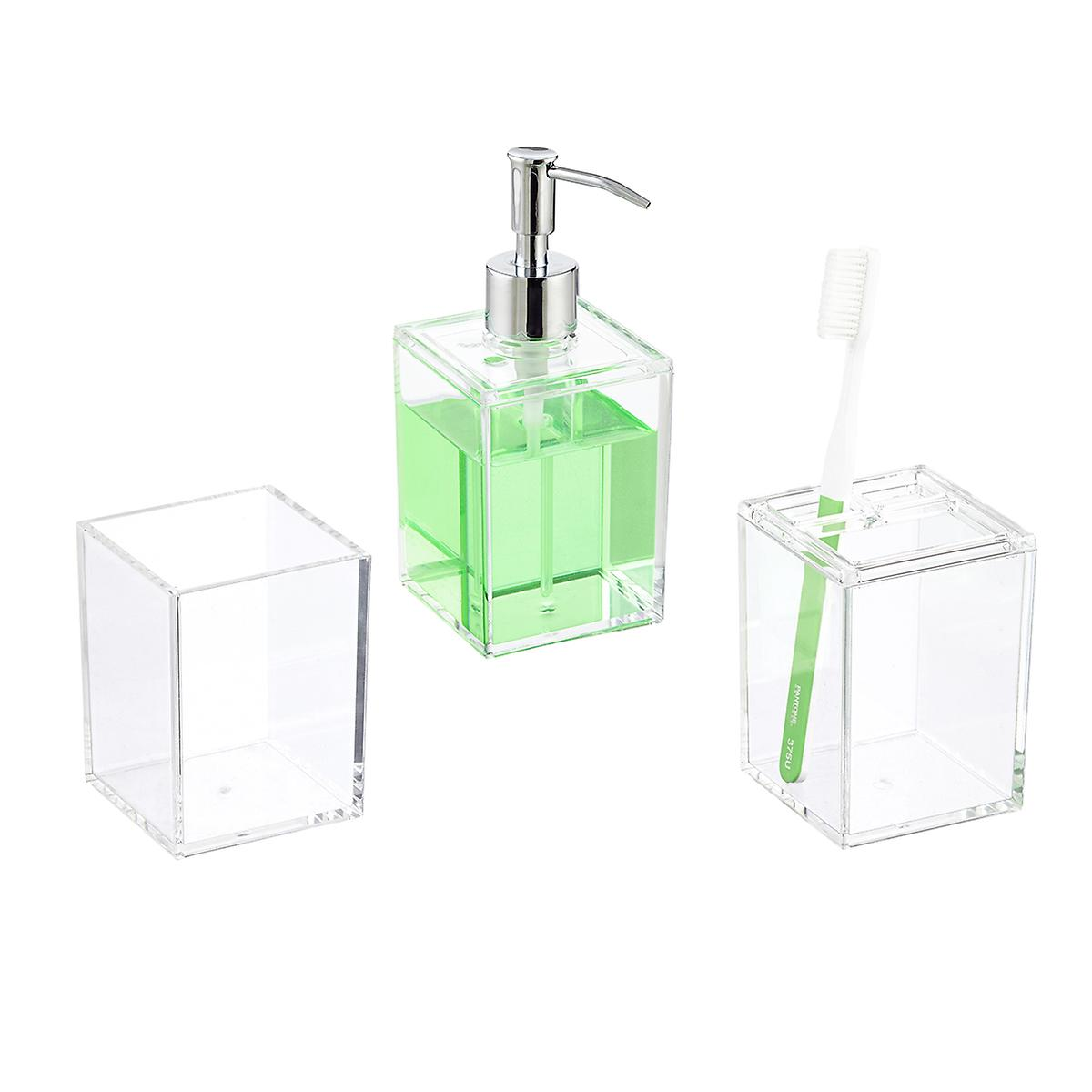 Clear Acrylic Countertop Bathroom Set | The Container Store