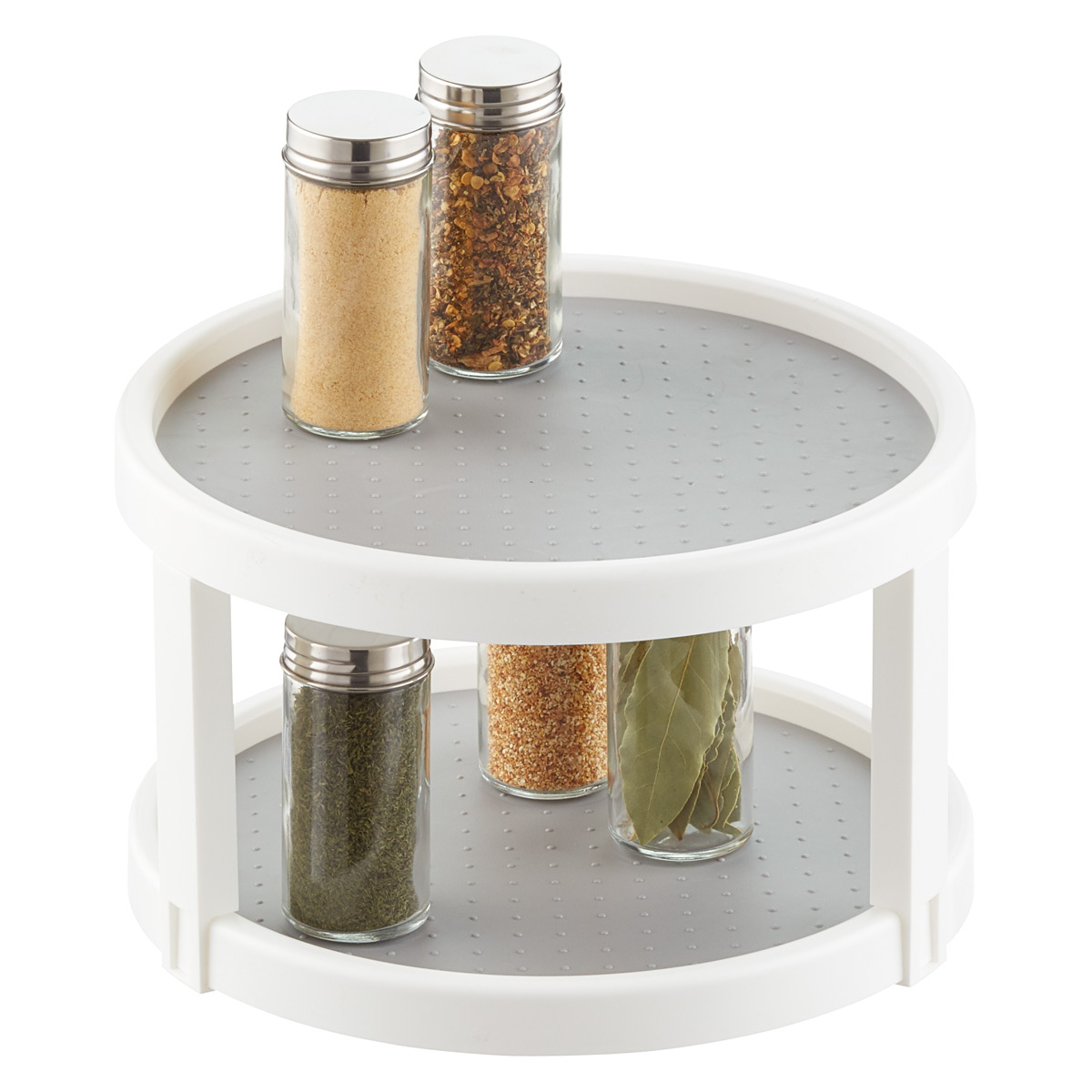 madesmart 2tier white lazy susan