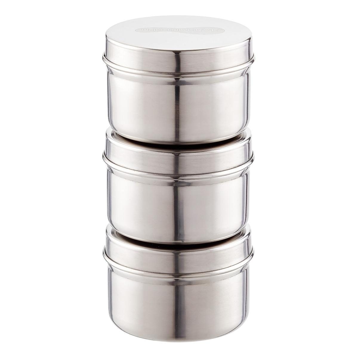 3 oz Stainless Steel Containers The Container Store