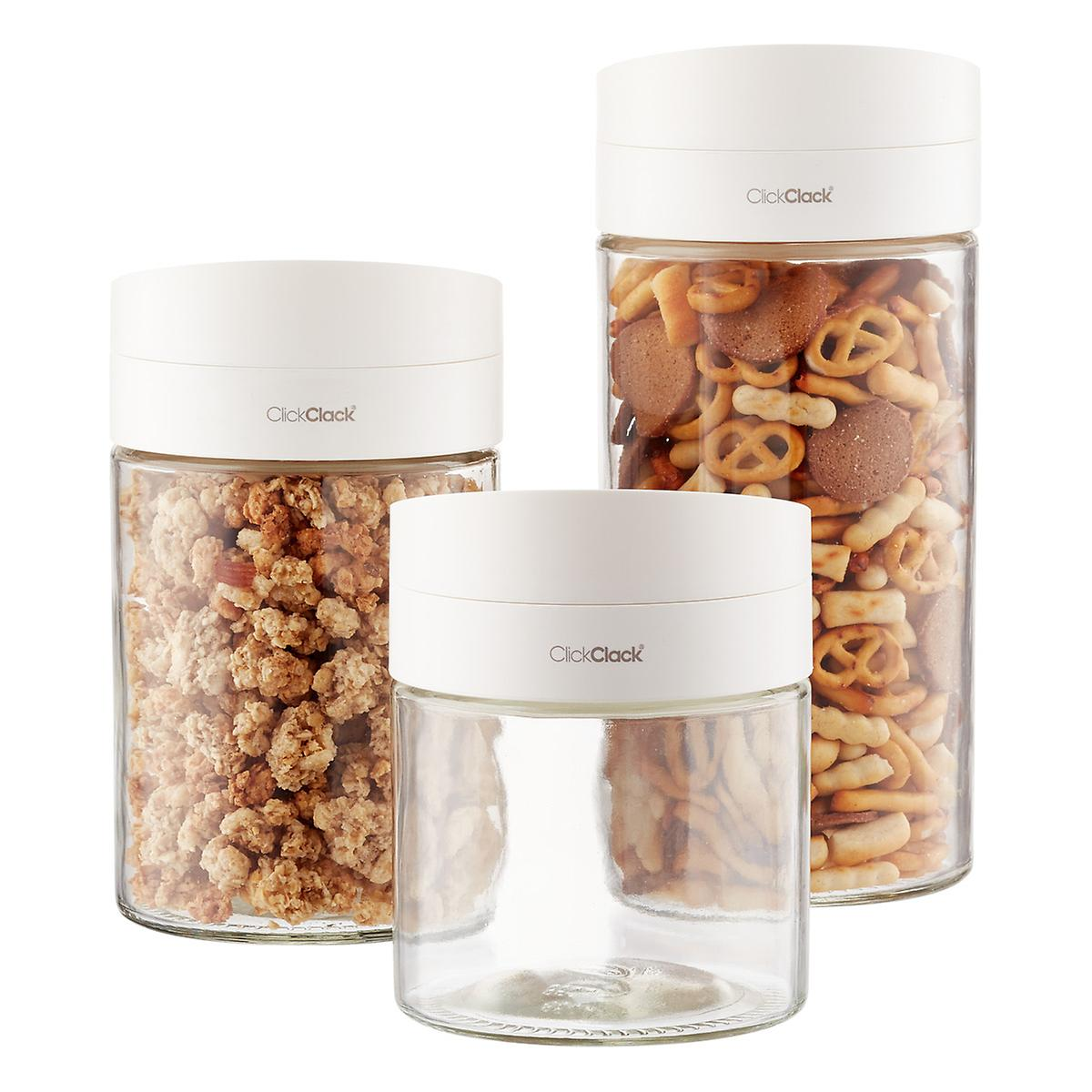 Glass kitchen storage containers - Twist Pour Glass Food Storage Containers