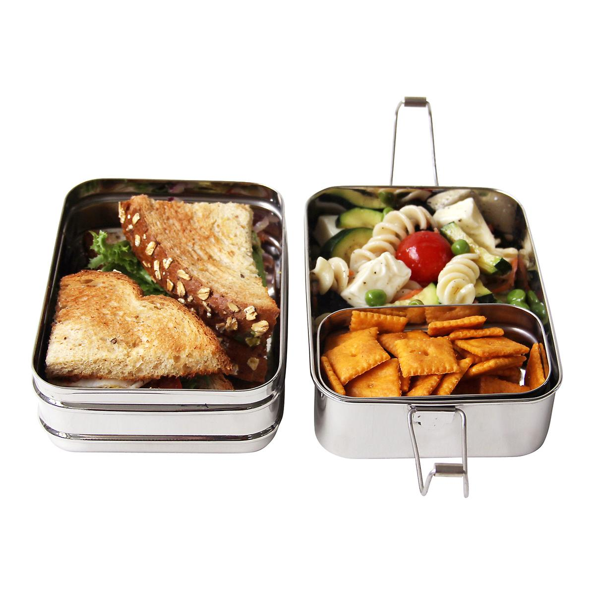 bento lunch box jakarta ecolunchbox stainless steel rectangular 3 in 1 lunch box bento box at. Black Bedroom Furniture Sets. Home Design Ideas