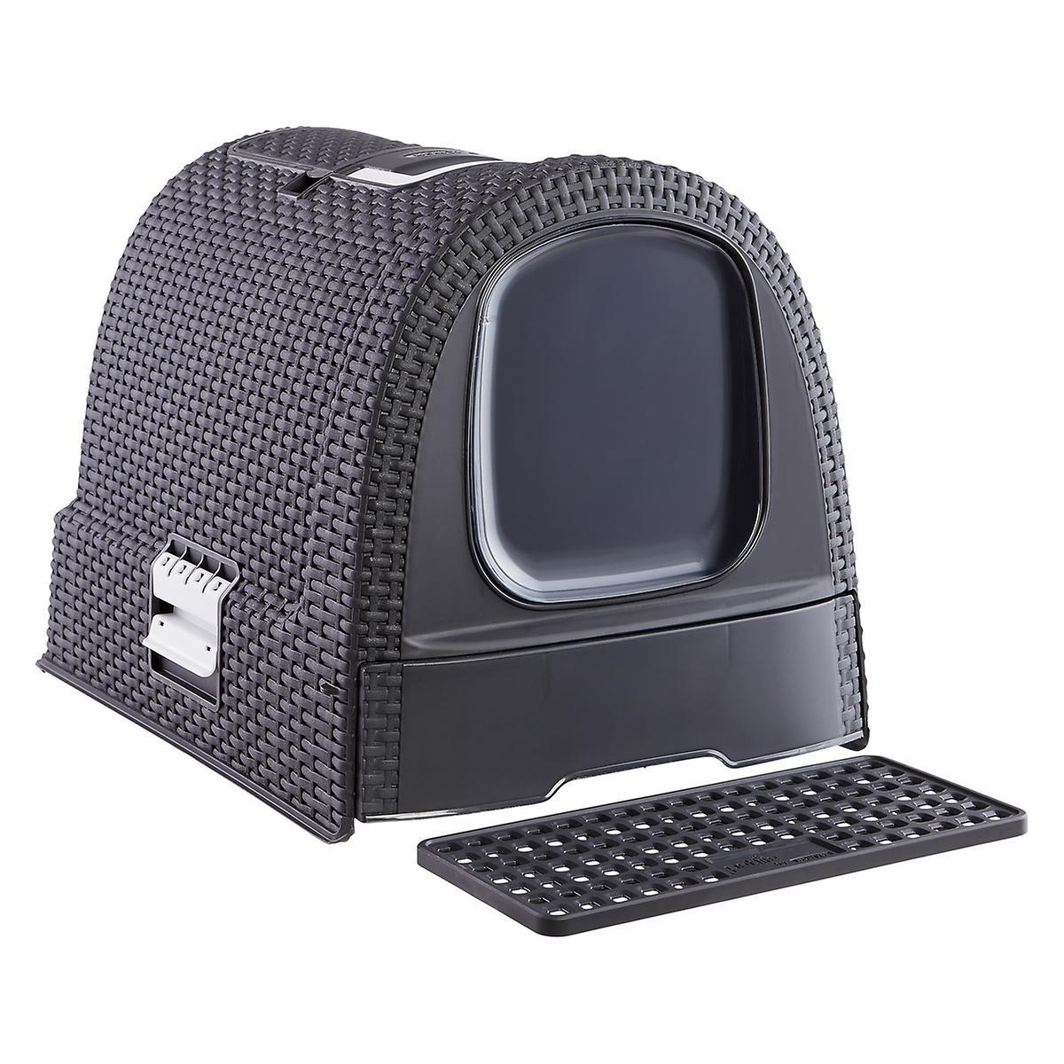 Curver Grey Basketweave Litter Box