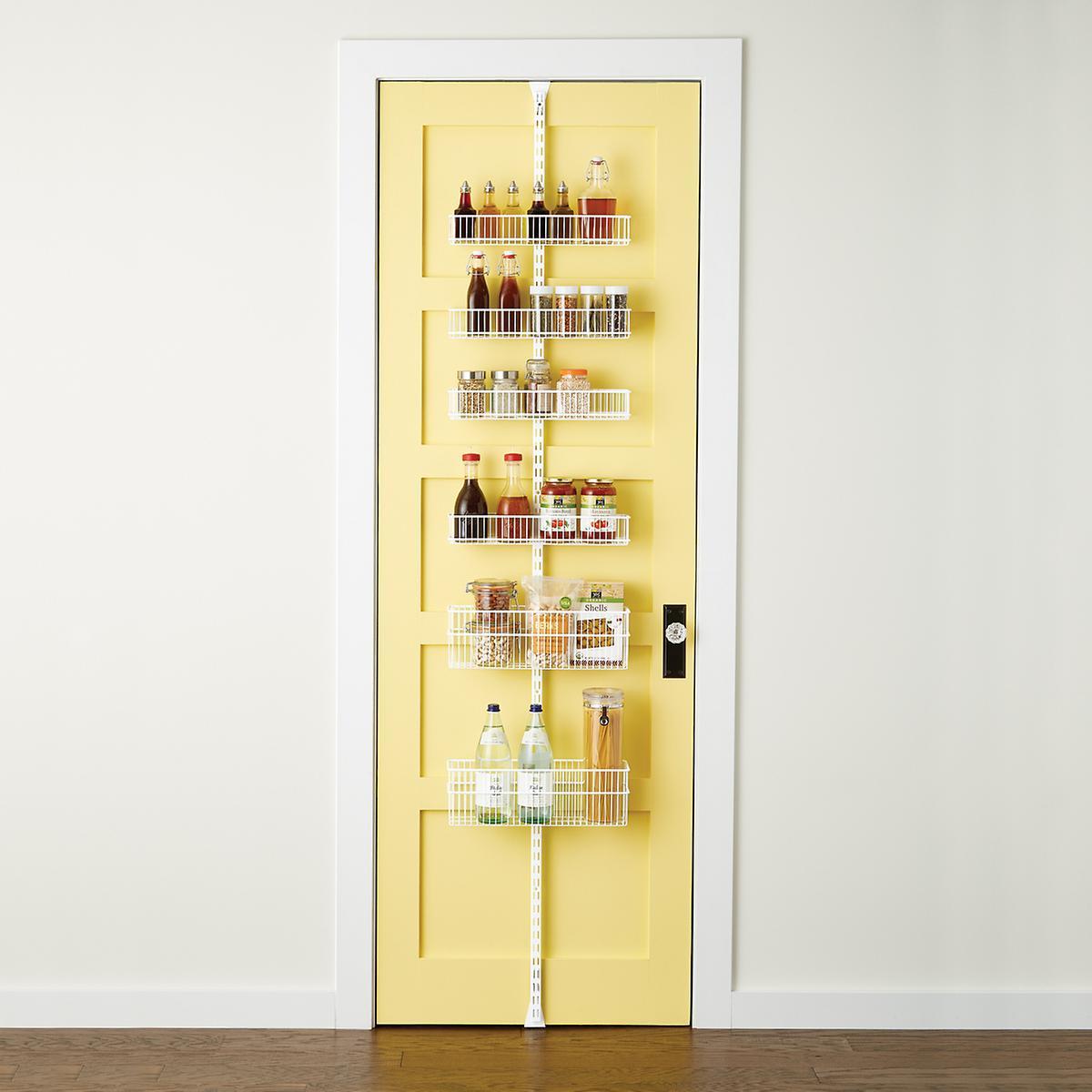 Elfa Utility White Mesh Pantry Door Wall Rack: White Elfa Utility Wire Kitchen Door & Wall Rack