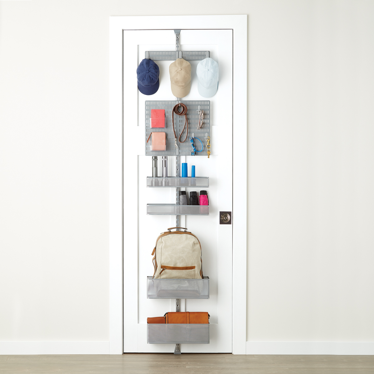 Platinum elfa utility Mesh Entry Door \u0026 Wall Rack & Platinum elfa utility Mesh Entry Door \u0026 Wall Rack   The Container Store
