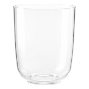 cleara acrylic trash can by umbra the container store rh containerstore com mercury glass bathroom trash can