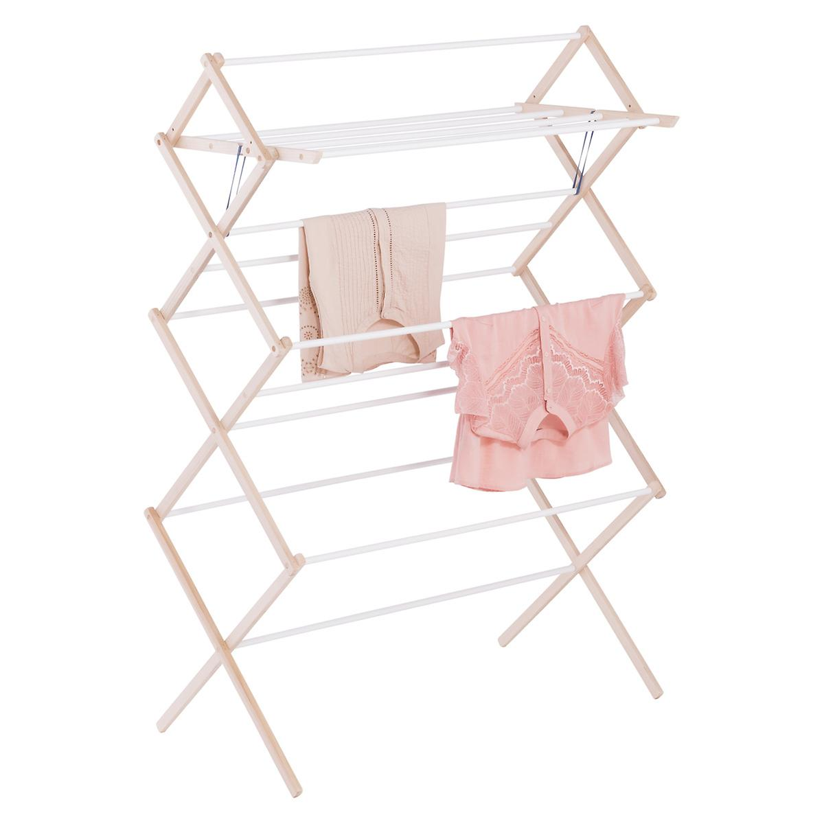 14-Dowel Wooden Clothes Drying Rack ...