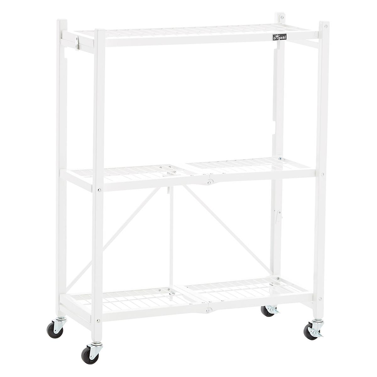 Origami 3 shelf folding rack the container store origami 3 shelf folding rack jeuxipadfo Images