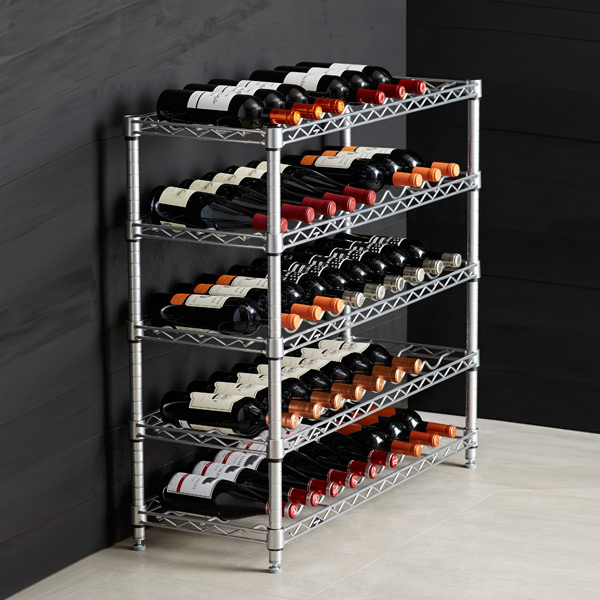 Cheap wine racks the wine rack cabinet can be both a for Cheap wine storage ideas