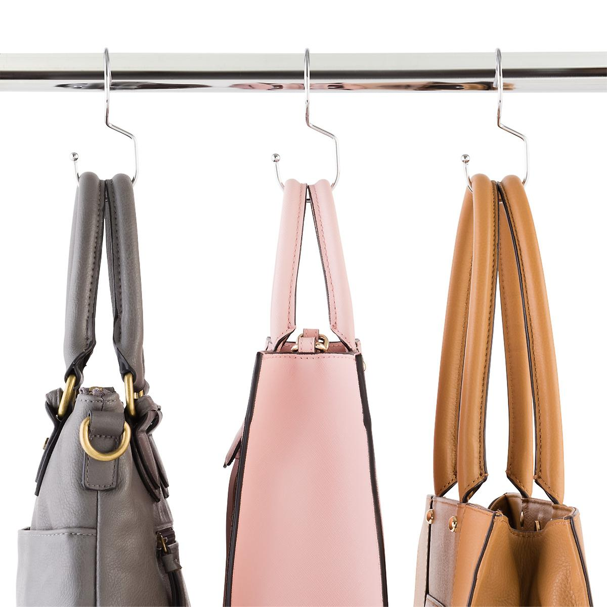 Chrome Metal Purse Hangers | The Container Store