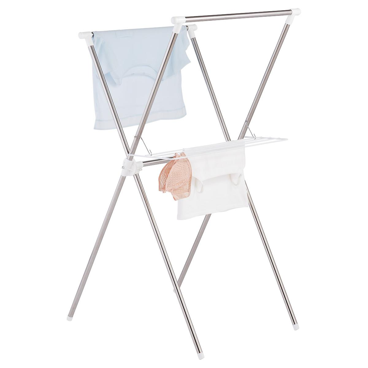 Iris Stainless Steel Folding X Frame Clothes Drying Rack The