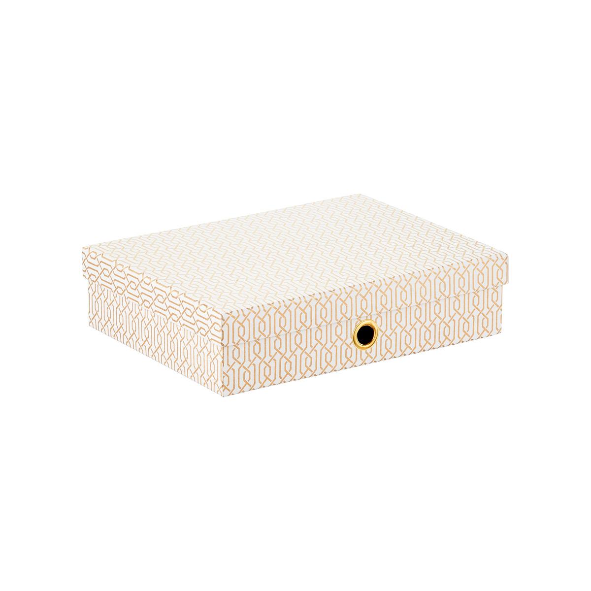 Gold U0026 White Ornate Office Storage Boxes