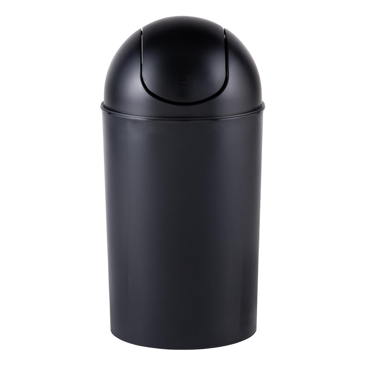 Umbra Black 10 Gal Swing Lid Grand Trash Can The Container Store