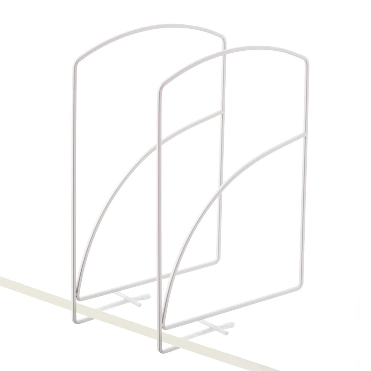 lynk tall white solid shelf dividers the container store