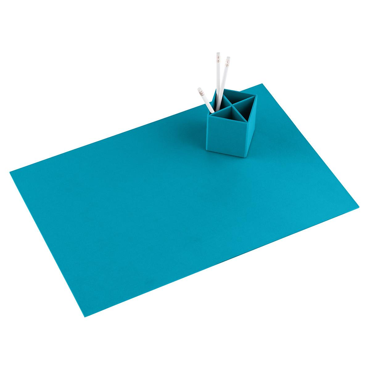 Bigso Turquoise Stockholm Desk Blotter The Container Store - Table pad store