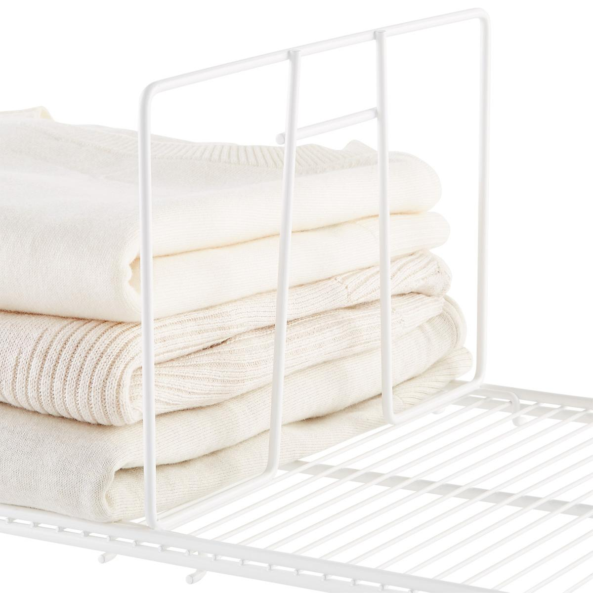 White elfa Ventilated Wire Shelf Dividers | The Container Store