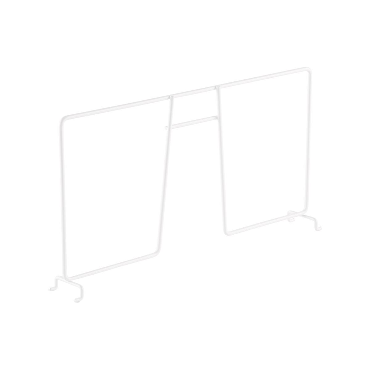White elfa Ventilated Wire Shelf Dividers   The Container Store