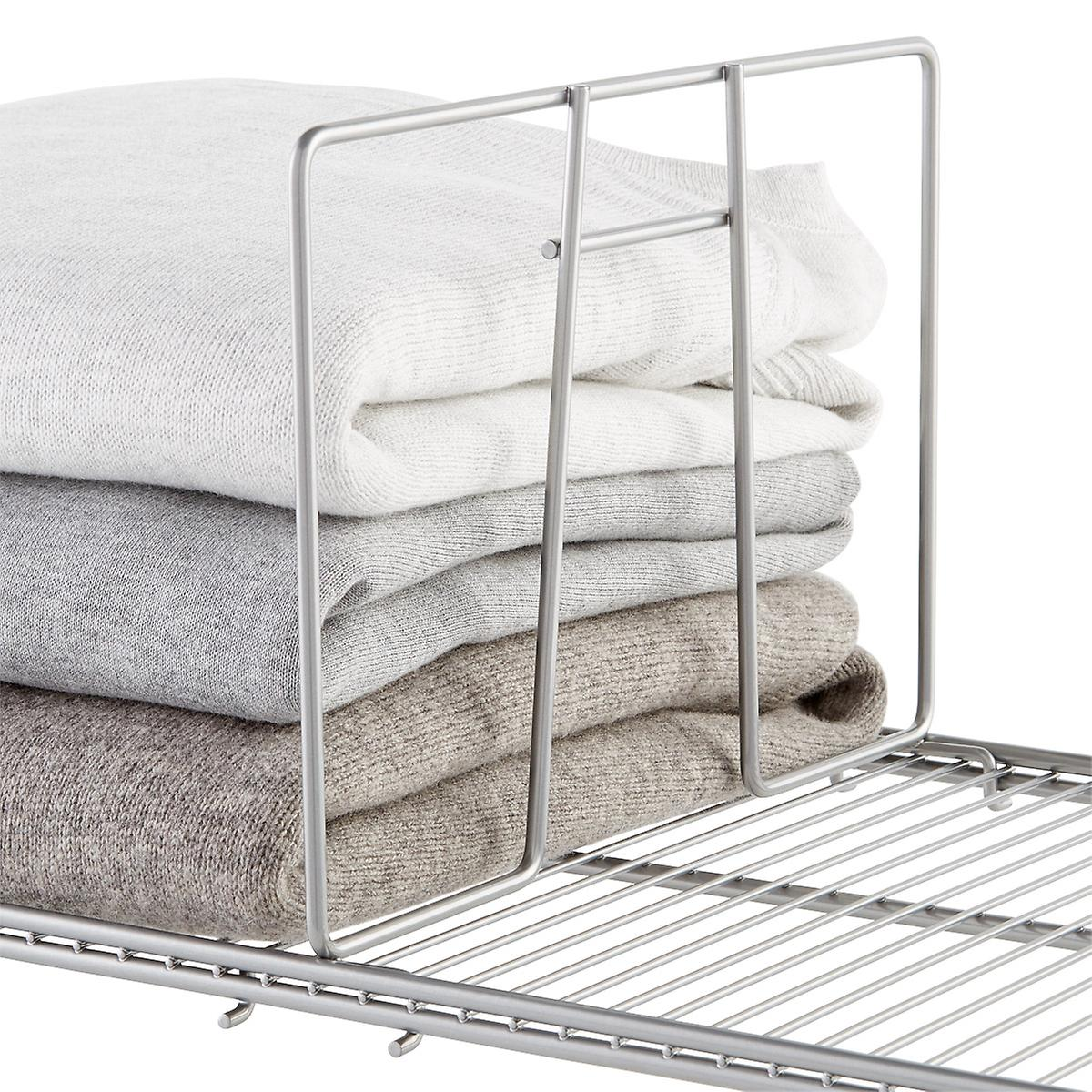 Platinum elfa Ventilated Wire Shelf Dividers | The Container Store