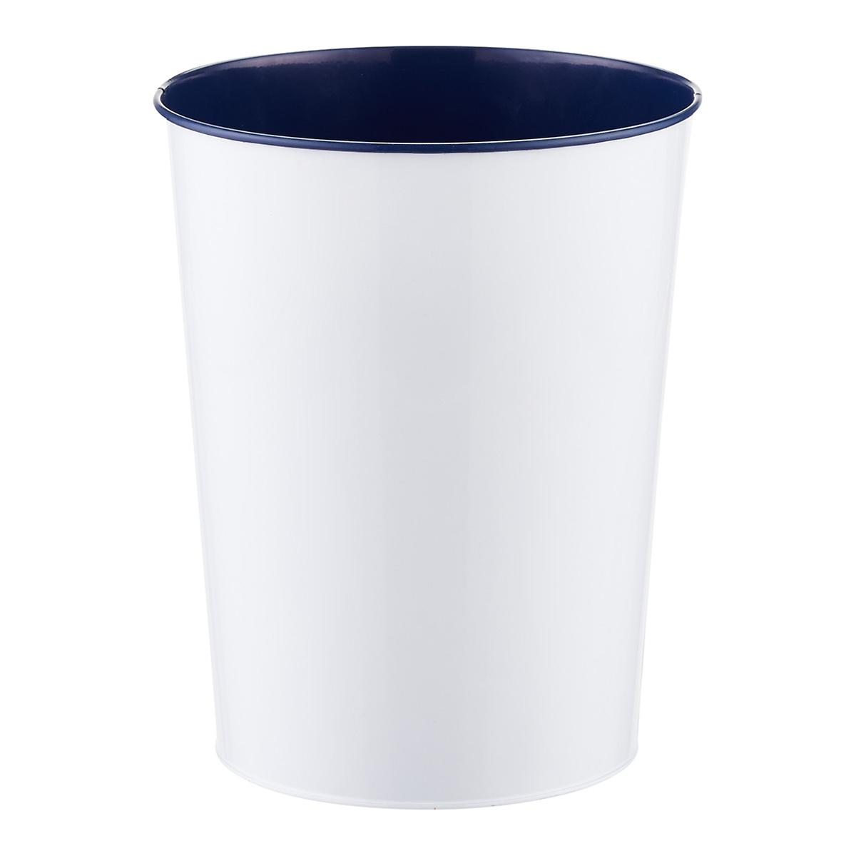 Best Three by Three Navy Vivid Metal Trash Can | The Container Store YV48
