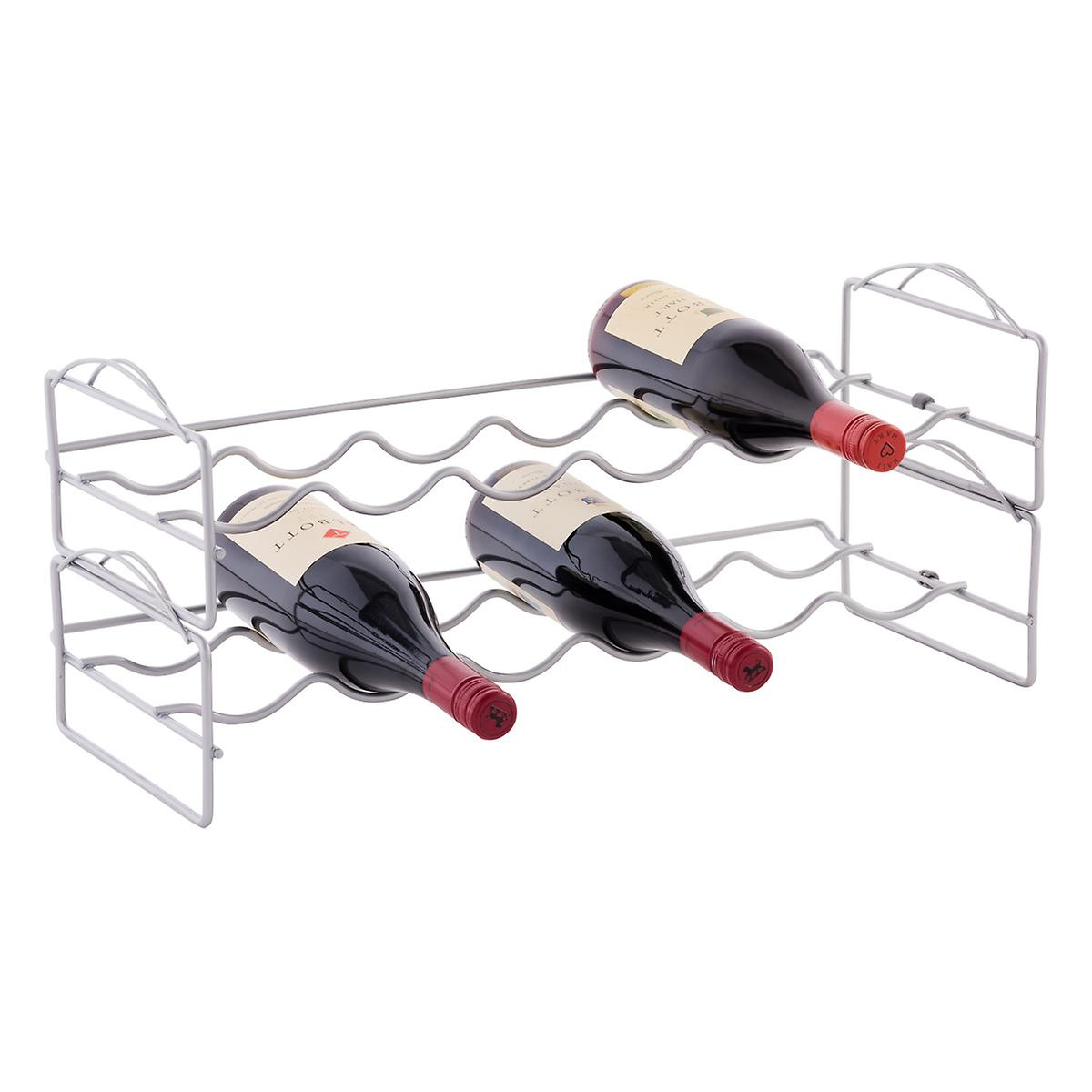 bottle stackable wine rack  the container store - bottle stackable wine rack