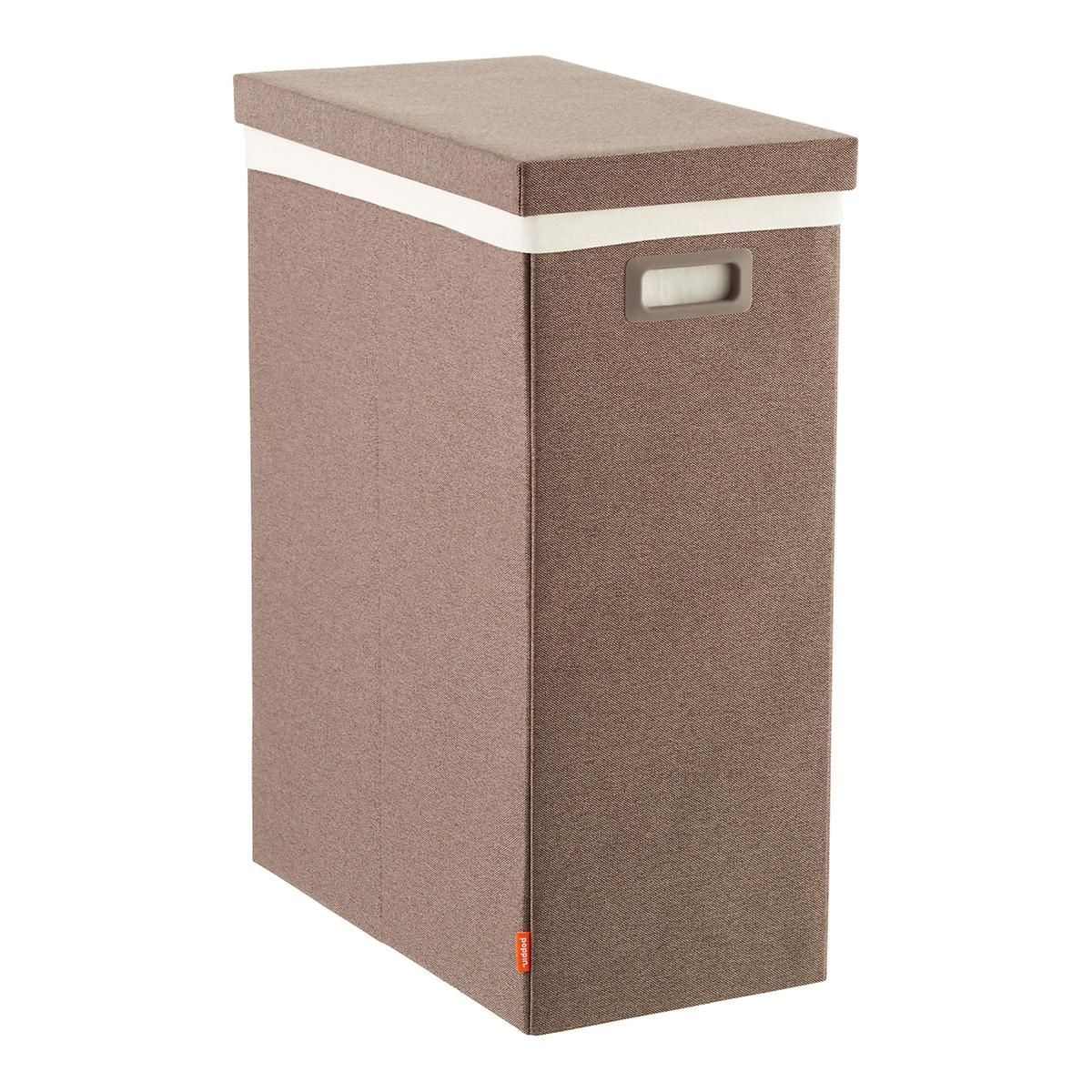 Heather Brown Poppin Laundry Hamper with Lid