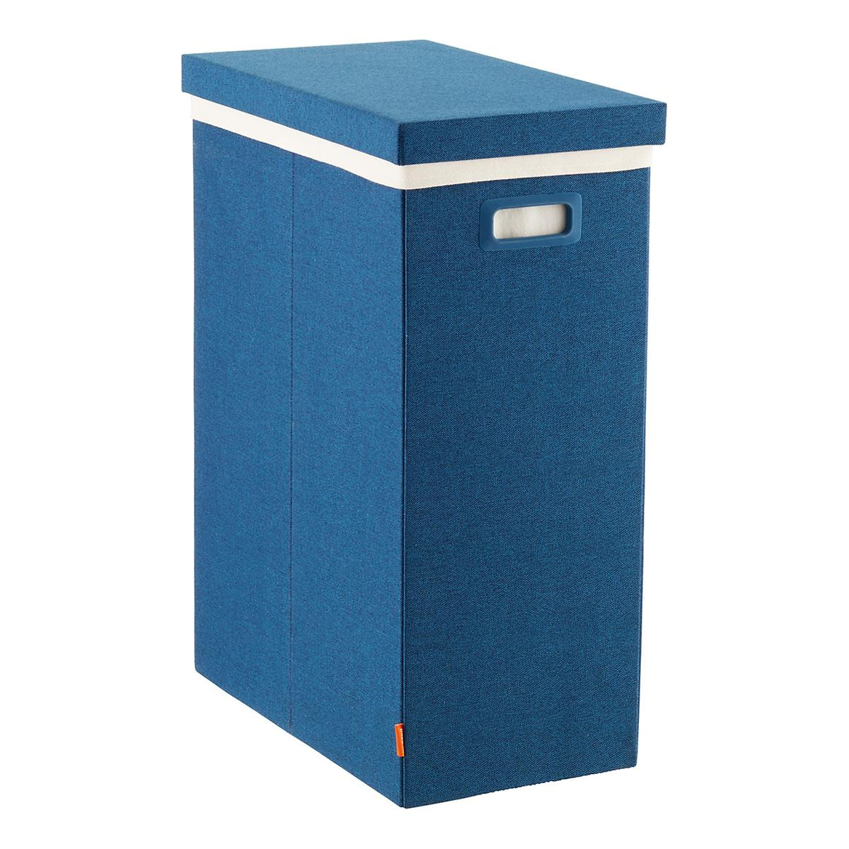 Navy Poppin Laundry Hamper With Lid