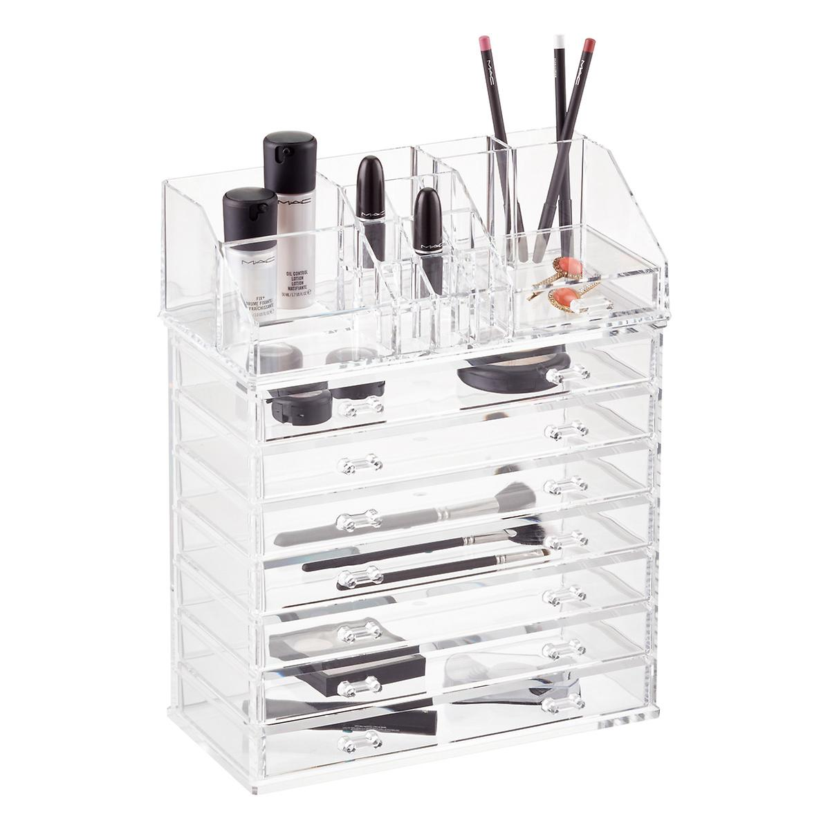 Acrylic Makeup Organizer With Drawer The Container Store - Acrylic makeup organizer